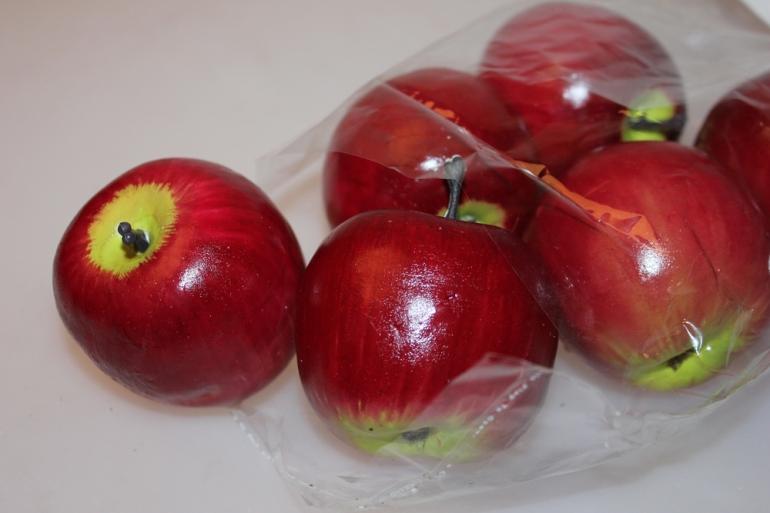 искусственные фрукты декоративные искусственные фрукты - 2045 яблоки красные 7см (6 шт в уп.) 7109