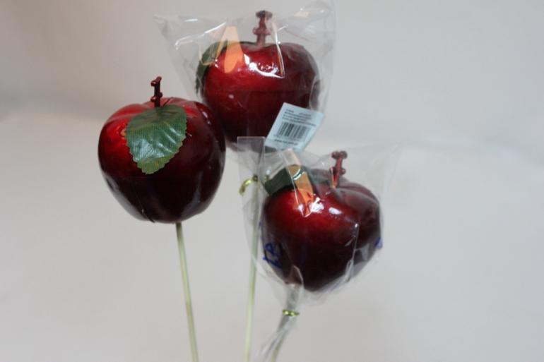 искусственные фрукты декоративные искусственные фрукты - 8907 вставка яблоко большое 12 см. (1 шт.) 7107
