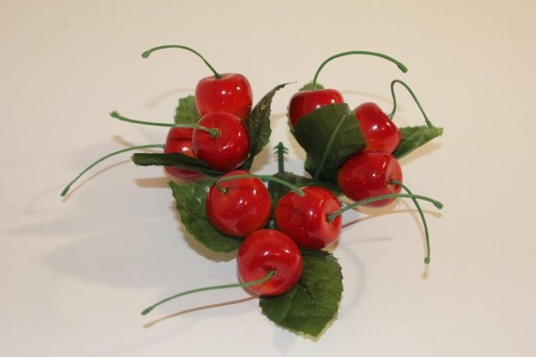 искусственные фрукты декоративные искусственные фрукты - вишня 992