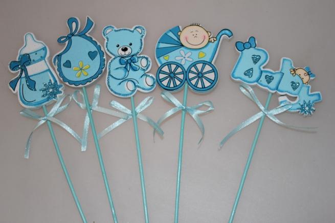 вставки декоративные вставки - 3858  вставка дети голубые (12 шт в уп) 7376