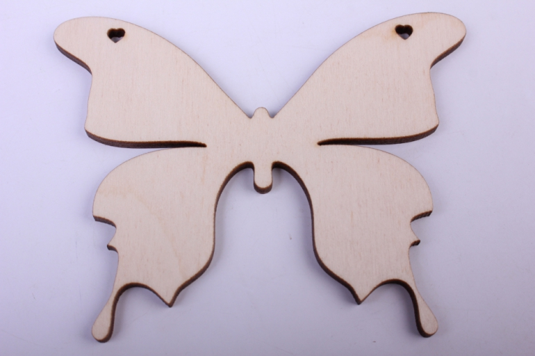 деревянная заготовка - бабочка 2 11*8,6см, фанера 4мм 9-8-602