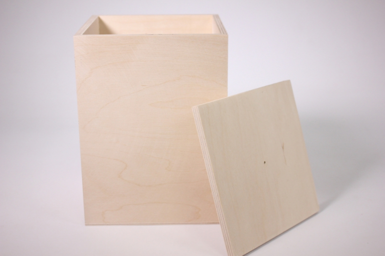 деревянная заготовка - банка под крупу 15х15см h=21см