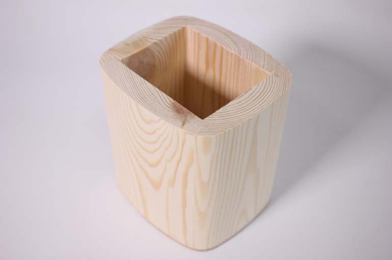 деревянная заготовка - карандашница овальная 10*12 h=13см