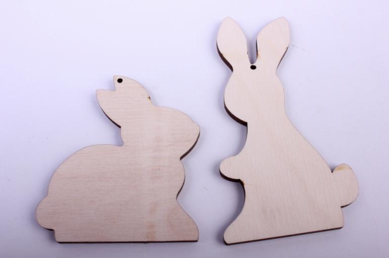 деревянная заготовка - набор зайчики 10см, 7см, фанера 4мм 402055