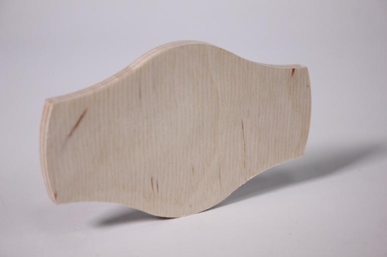деревянная заготовка - накладка бабочка 10*5