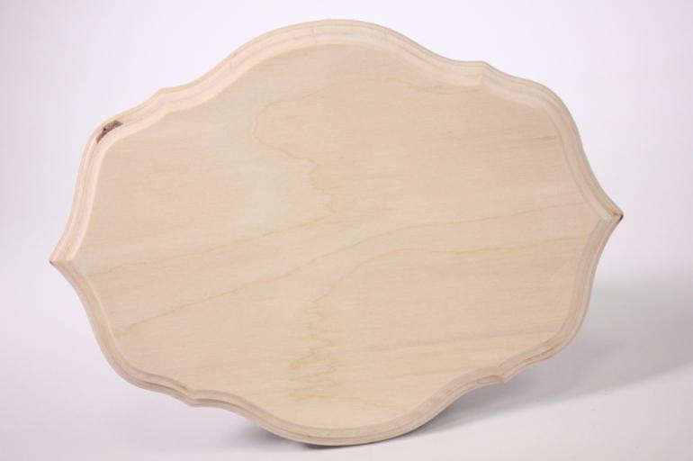 деревянная заготовка - накладка фигурная 3-03 21х16см