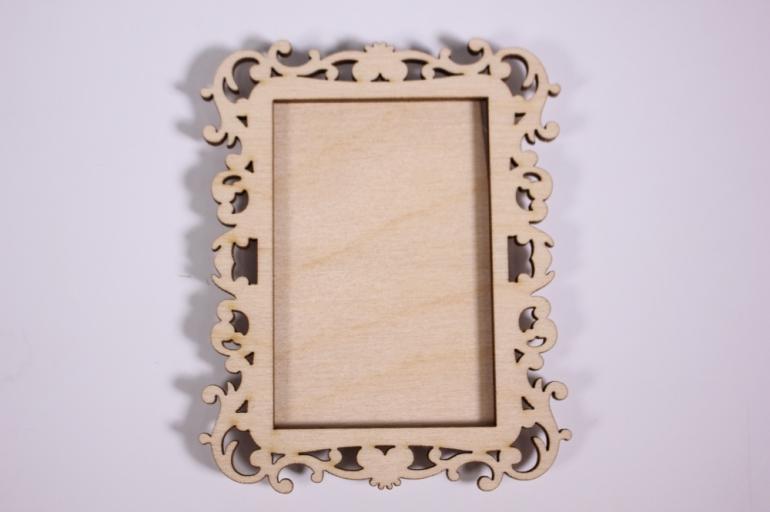деревянная заготовка - рамка под фото №2  8*10см, фанера 4мм  107074