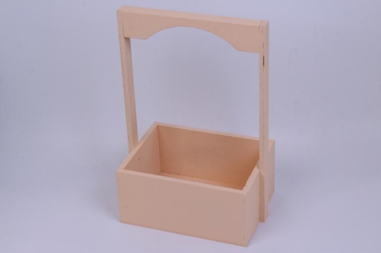 деревянныйящикgardenручкаквадратперсиковыйl20*15-32см