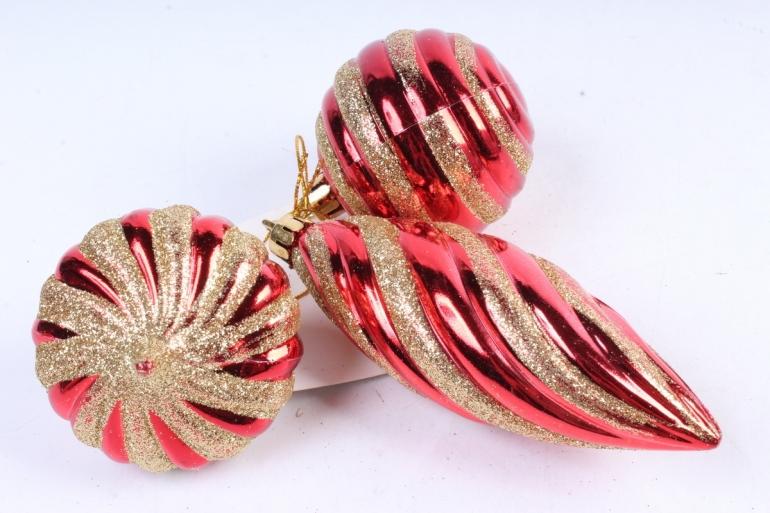 Ёлочное украшение набор (3шт)  цвет: красный DN-21717 (И)