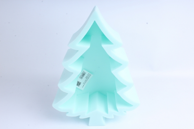 Форма-коробка пенопласт для цветов Ёлочка (зеленая)