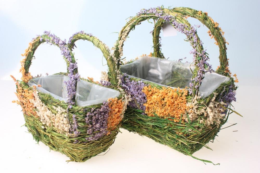 Сумка авоська с цветком - vyazhemddru