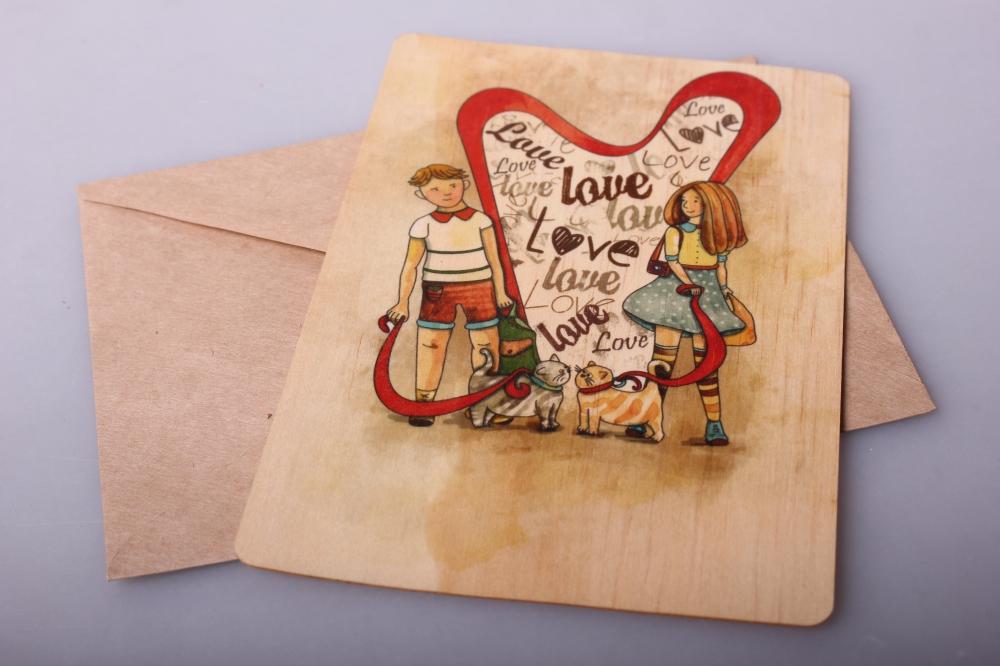 Днем рождения, деревянные открытки производители