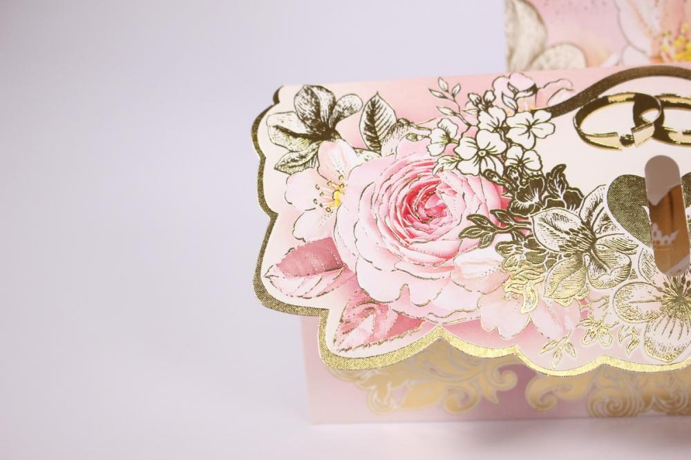 сытые большие свадебные открытки с конвертом старый