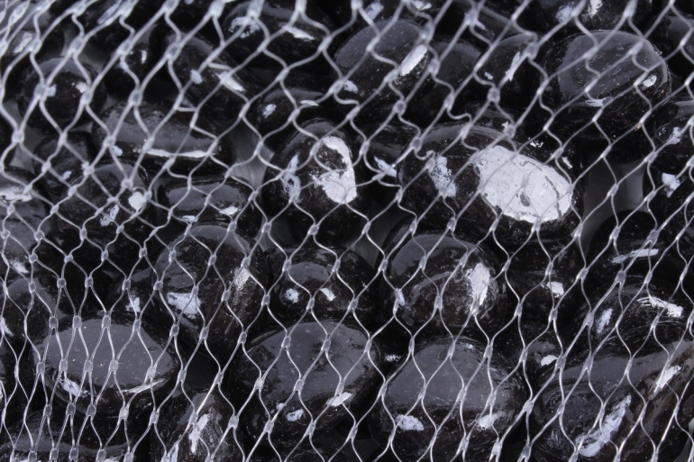 Галька цветная 400гр крупная черная (фракция 10-15 мм) 301789040520