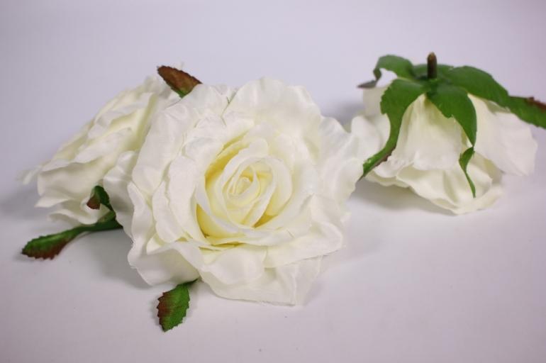 головка розы шампань( в уп. 12 шт)  d=9см sun507