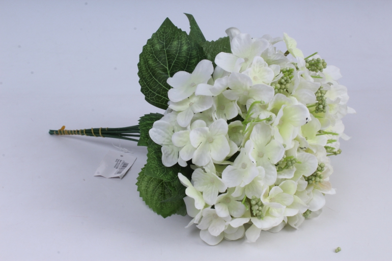 гортензия ветка 30 см (12 шт в уп) белая liu286