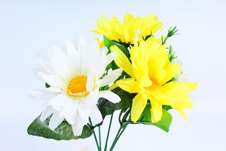 Хризантемы  бело-жёлтые