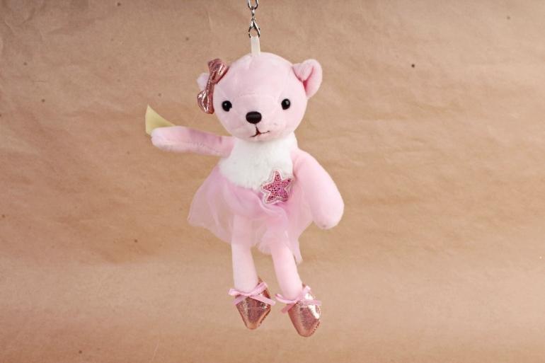 Игрушка для букета (АС) - Мишка балерина  розовый
