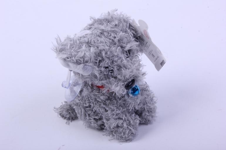 игрушка для букета- собачка серая 14/11 h=10см