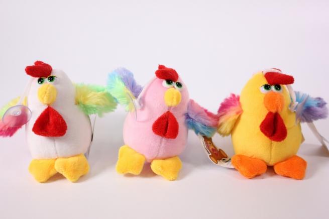 игрушка для букетов - петушок 3цв. h=12см (код 6сф)