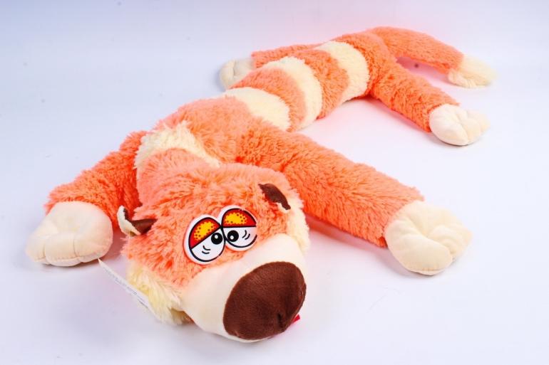 Игрушка мягкая - (Г) Кот длинный полосатый рыжий 80/100см, арт.070822