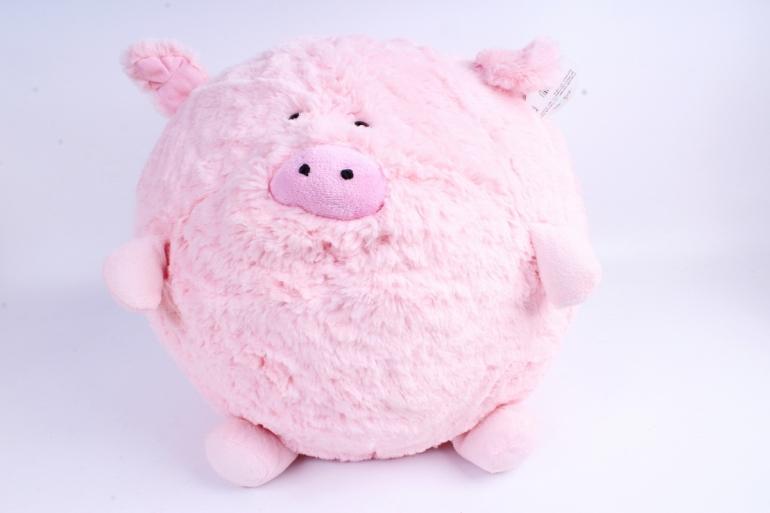 Игрушка мягкая - (Г) Свинка Круглая 35*30см (Зоопарк-7), арт.20202