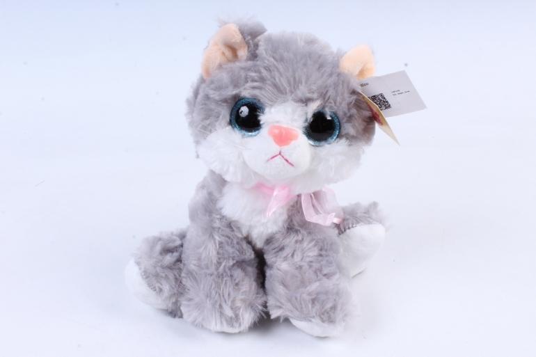 Игрушка мягкая - Кошка серая    ЗОО М-3031/20