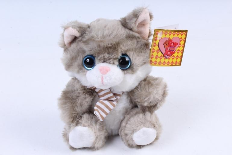 Игрушка мягкая - Кот в коробке дымчатый   М-1570/12