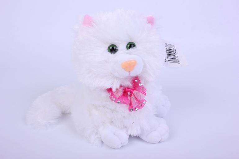 игрушка мягкая кошка белая   2437-ма