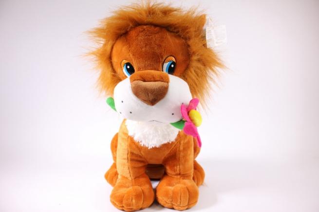 игрушка мягкая лев с цветком 1888-аг h=45см