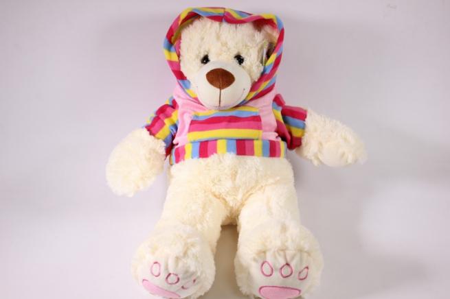 игрушка мягкая медведь в кофте 14119/40 -аг h=38см