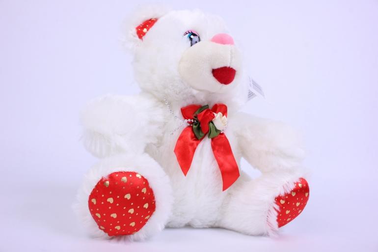 игрушка мягкая мишка белый  15528-ма  зоо