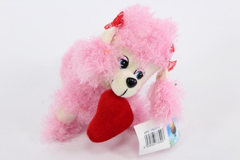игрушка мягкая собака - розовая  3392-аг