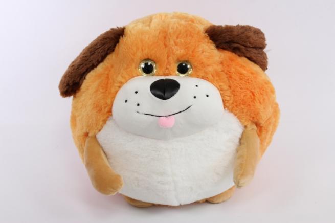 игрушкамягкая -собакарыжаякруглая35см м-1826/33зоо
