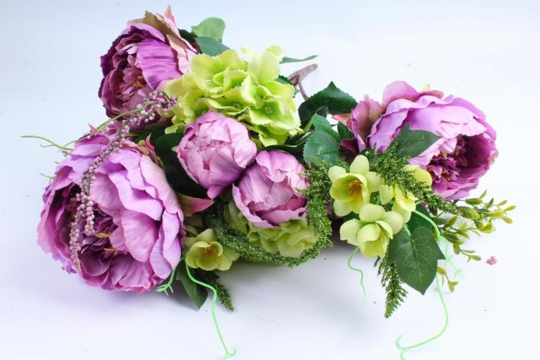 Искусственное растение - Букет Гортензия,пион сирень/салатовый LIU231