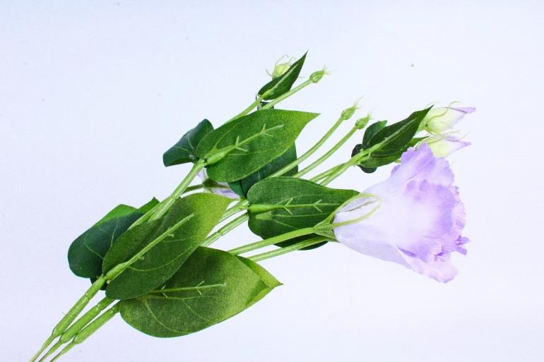 Искусственное растение - Цветок Эустомы (3 шт в уп) Фиолетовый SUN357
