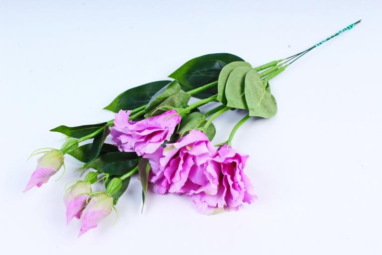 Искусственное растение - Цветок Эустомы (3 шт в уп) Сиреневый  SUN357