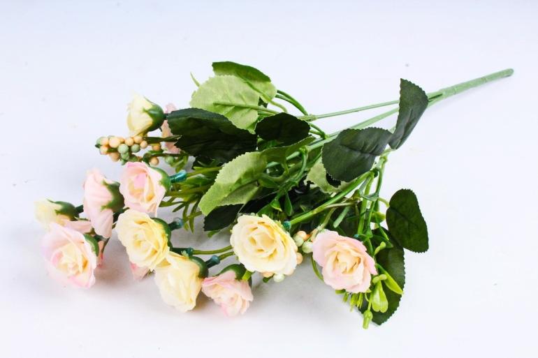 Искусственное растение - Розанчики кремовые