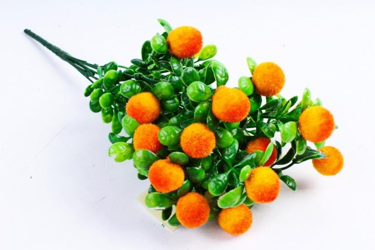 Искусственное растение - Ягодки бархатные оранжевые