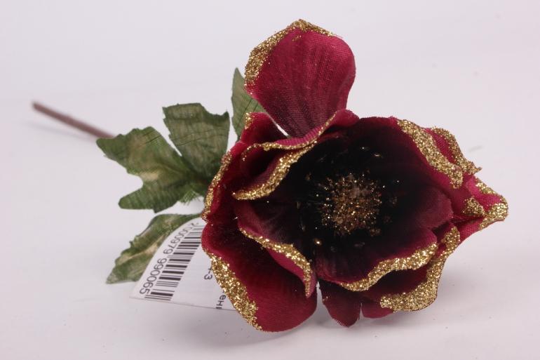искусственное растение - анемона 33 см бордо 71163