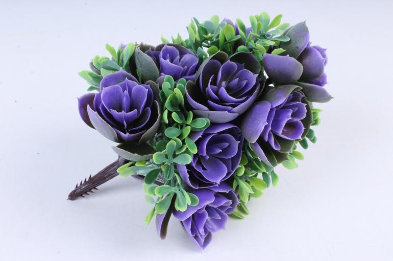 Искусственное растение -  Букет конусовидной каменной розы сиреневый   Б10246