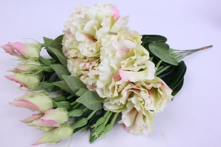 искусственное растение - цветок эустомы (12 шт в уп) розово-белый 45 см sun357