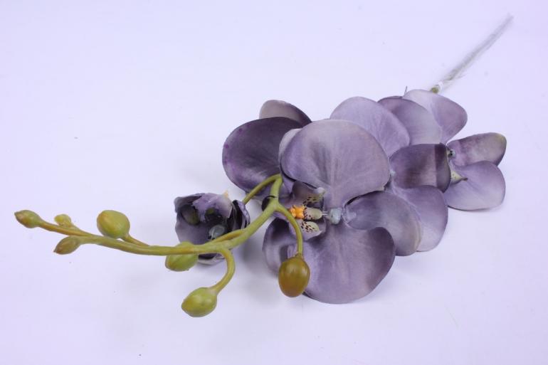 искусственное растение - цветок орхидеи 85 см серая sun437