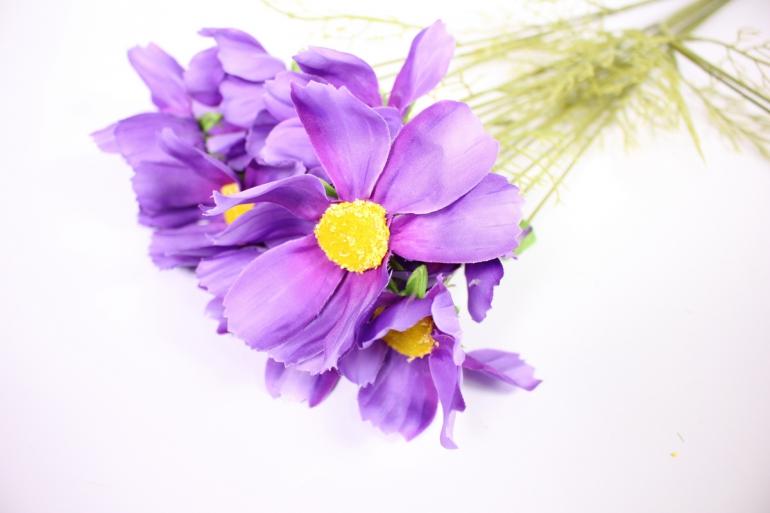 искусственное растение - космея 45см фиолетовая (6 шт в уп) sun448