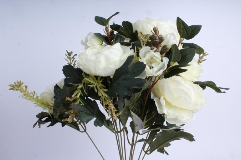 Искусственное растение - Пионы Ретро шампань
