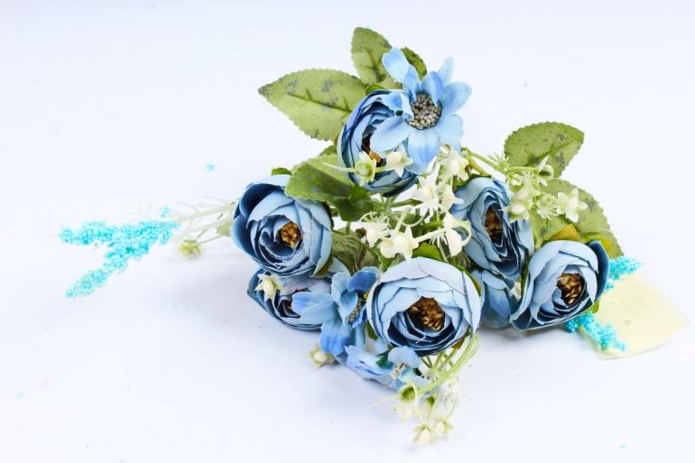 Искусственное растение -  Ранункулюс голубой  (Т)