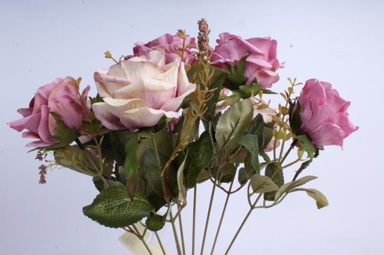 Искусственное растение - Роза Пастель лиловая