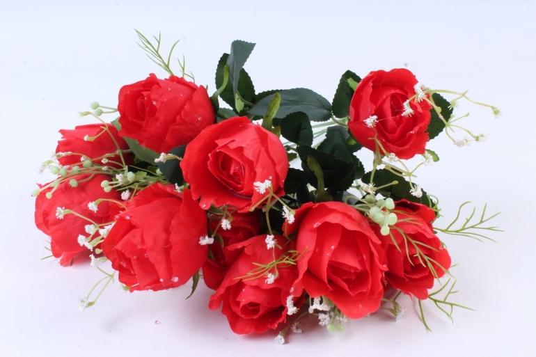 Искусственное растение -  Роза Вена красная  Б9719