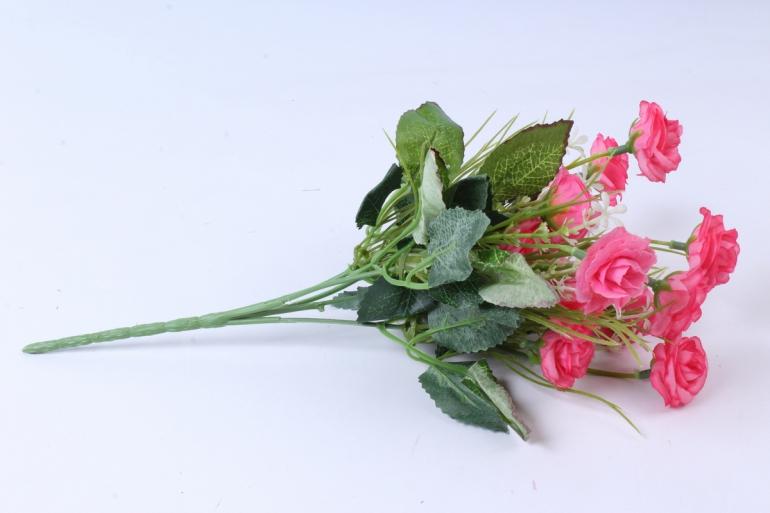 искусственное растение - розочка с гипсофилой малиновая h=31cm