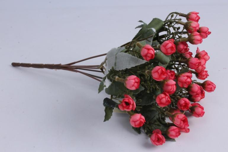 искусственное растение - розочки мини коралловые h=29cm
